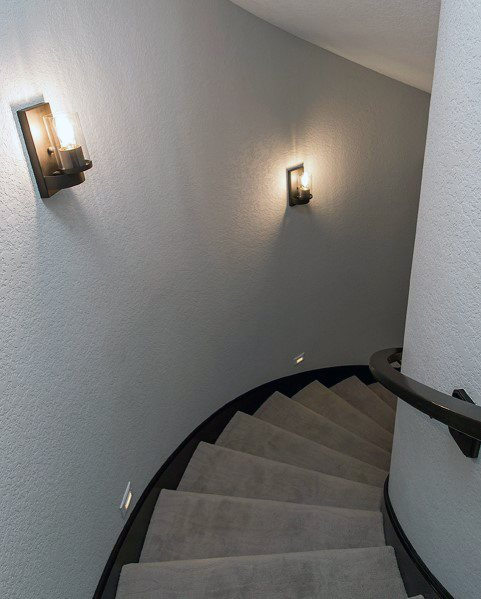 Curved Basement Stairs Home Designs