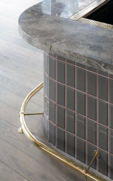 Curved Brass Home Ideas Bar Foot Rail