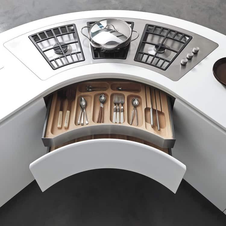 Curved Corner Kitchen Cabinet