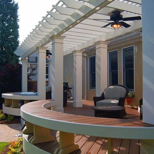 Curved Deck Bench Ideas Inspiration