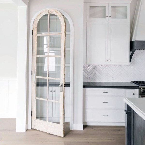 Curved Glass Window Look Interior Ideas For Kitchen Pantry Door