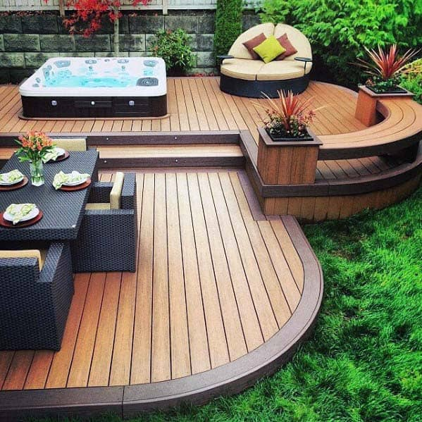 Curved Good Ideas For Deck Bench