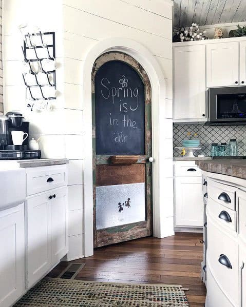 Curved Ideas For Kitchen Pantry Door