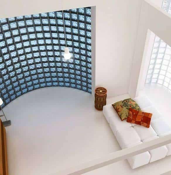 Curved Magnificent Glass Block Design Ideas