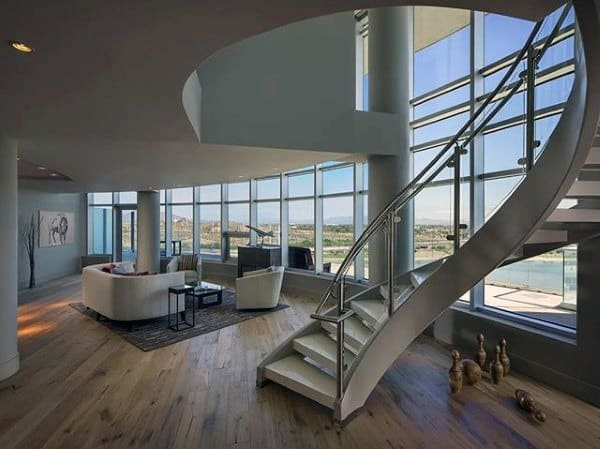 Curved Modern Staircase Ideas