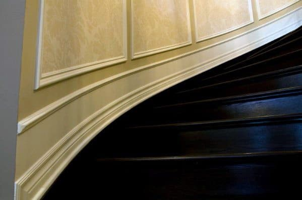 Curved Moldings Stair Trim Ideas Inspiration