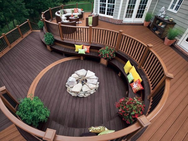 Curved Spiral Backyard Decks
