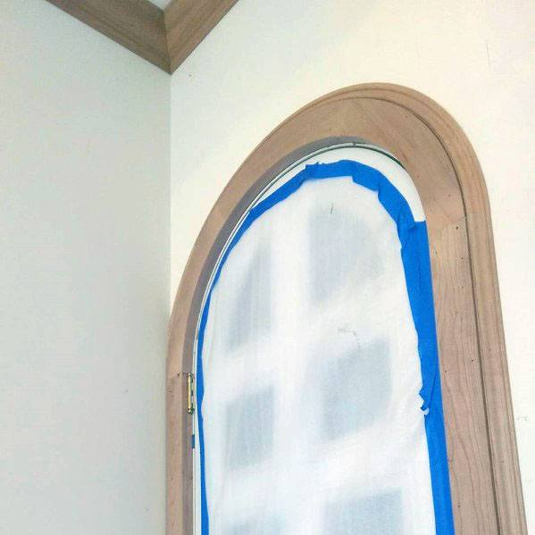Curved Wood Door Jams Casing Ideas
