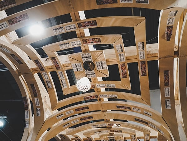 Curved Wood Framed Ceiling Detail 2019 Nahb Show Las Vegas Architecture Design