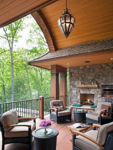Curved Wood Porch Ceiling Ideas