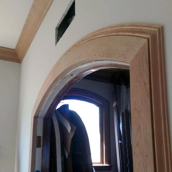 Curved Wooden Door Molding Trim Ideas