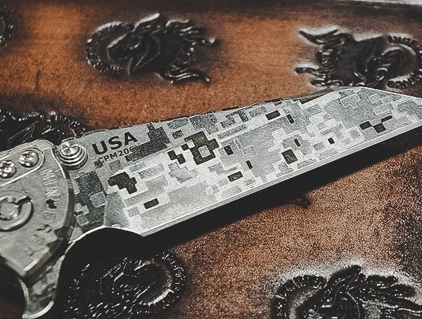 Custom Digital Cammo Knife Blade