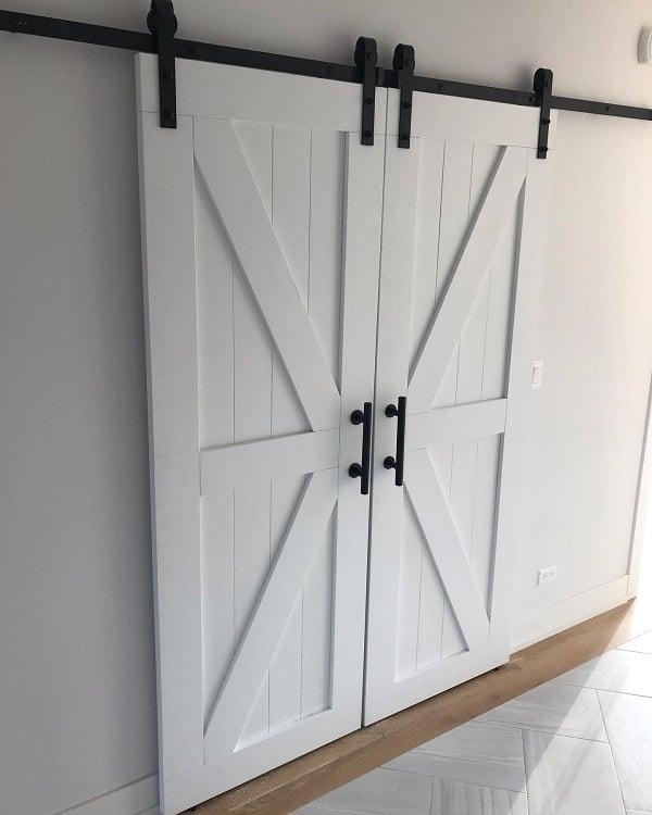 Custom Made White Barn Door