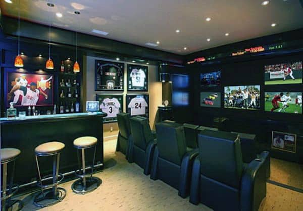 Custom Man Cave Bar Ideas