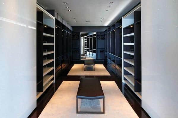 Custom Mens Bachelor Pad Walk In Closet