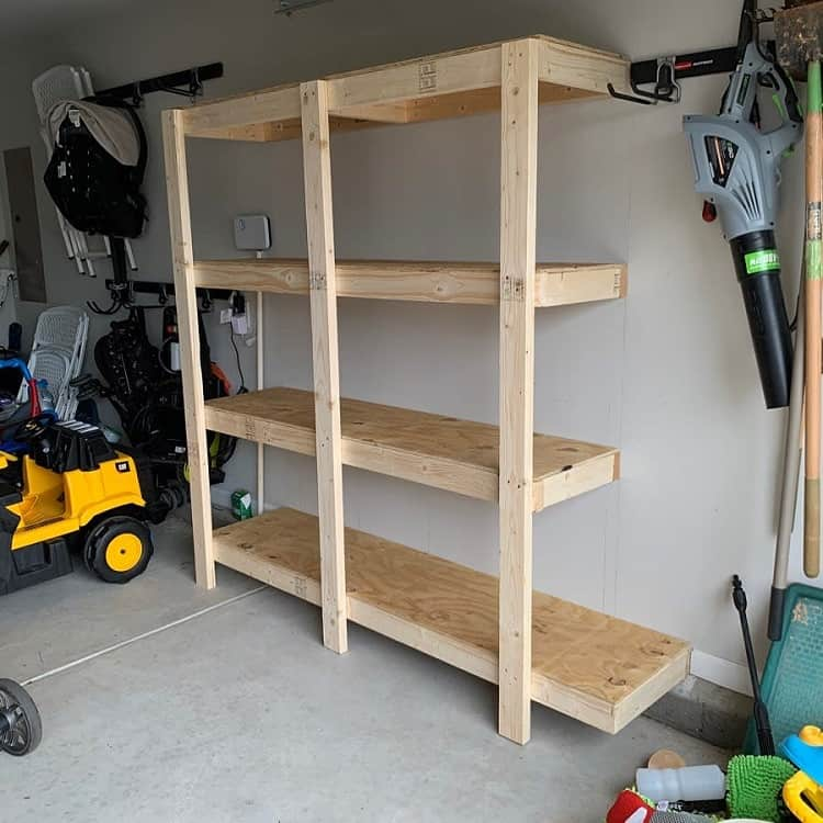 Custom Minimalist Wooden Garage Shelves Firefighterfix