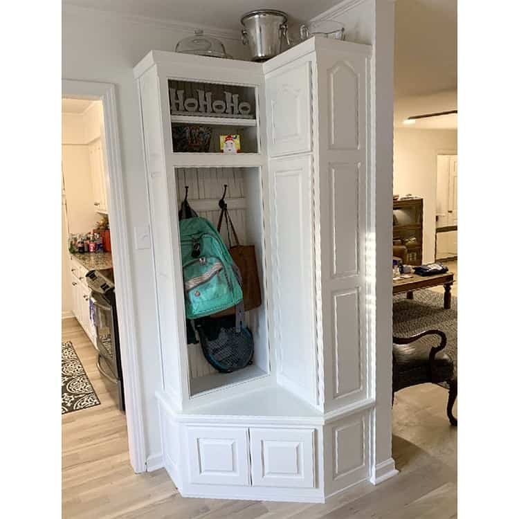 Custom Mudroom Awkward Corner Cabinet Hardman Woodworking