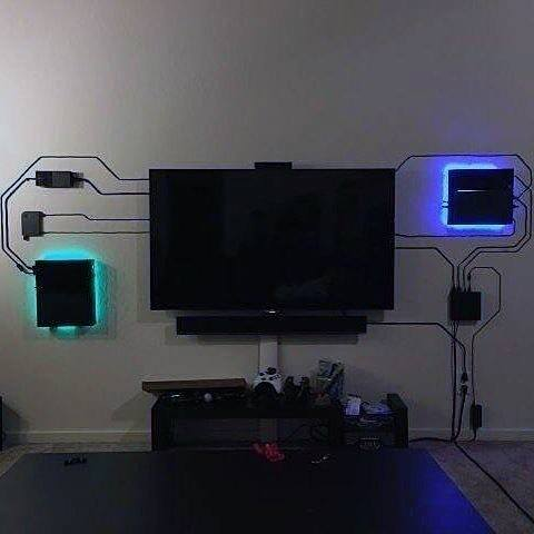 Custom Neon Tv Wall Gaming Man Cave