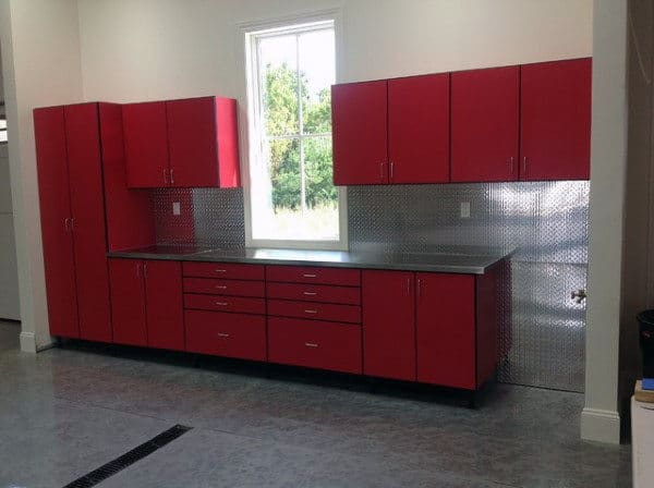 Custom Red Tool Cabinets Garage Ideas For Storage