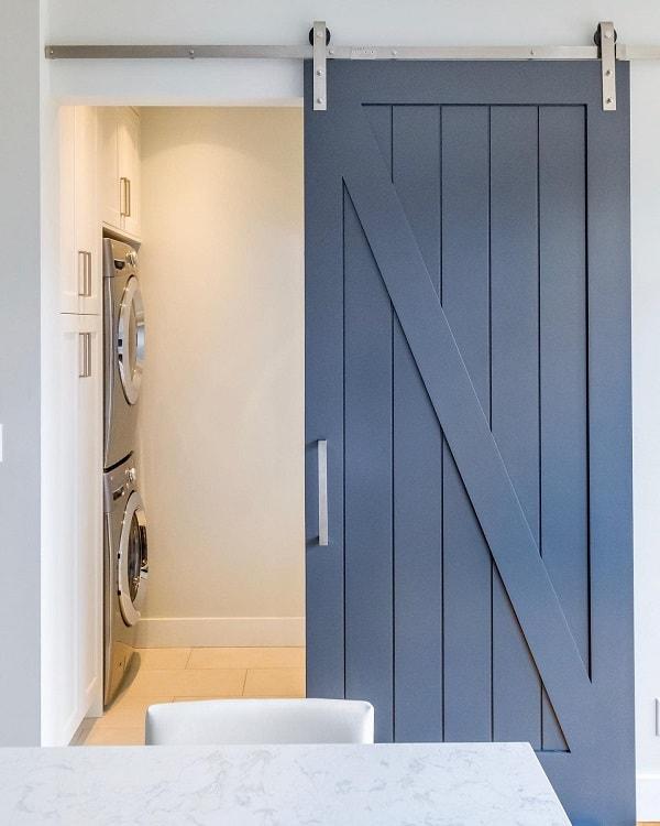 White Sliding Barn Door Design