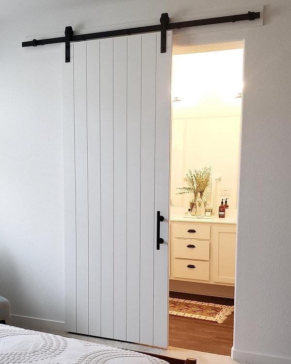 Custom Sliding White Barn Door