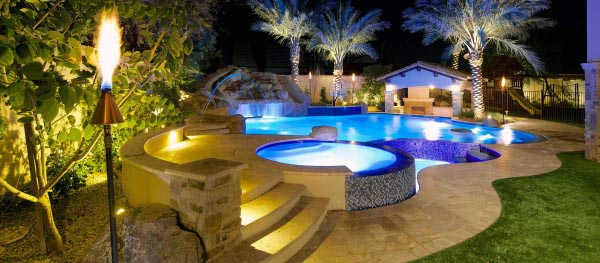 75 swimming pool designs for men cool ideas to soak in for Custom swimming pool designs