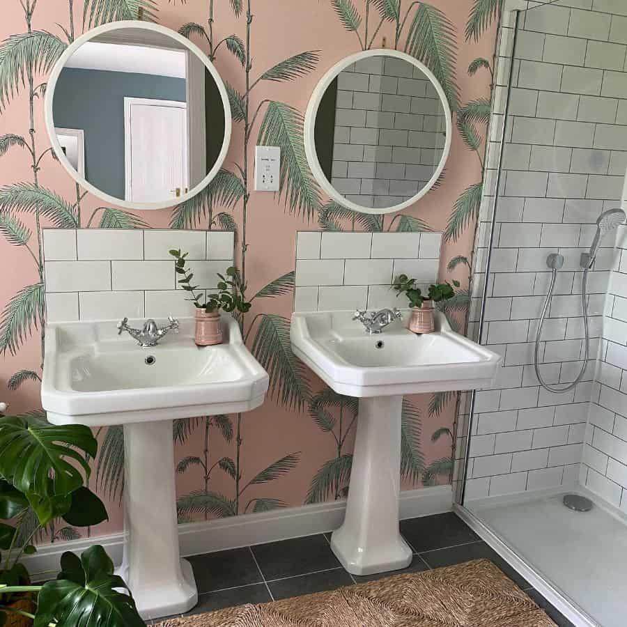 Cute Bathroom Wallpaper Ideas Peacockfinds