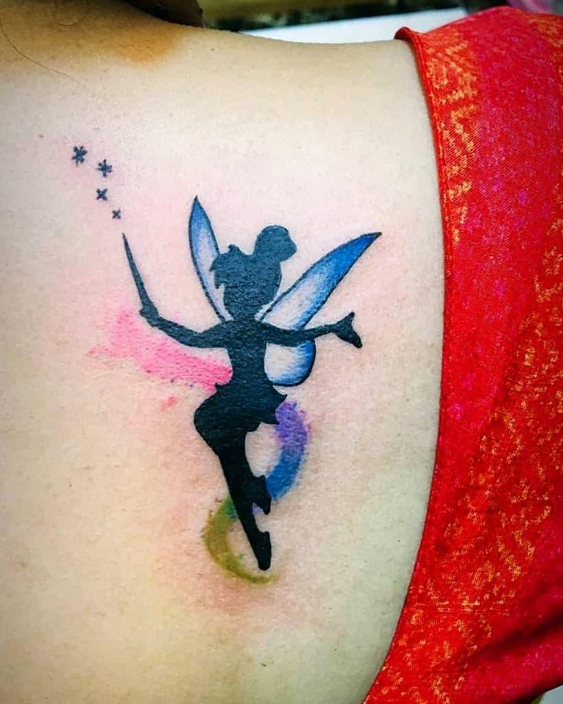Cute Color Fairy Tattoo