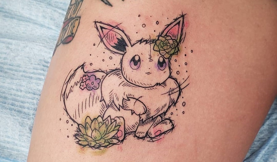 Top 77 Best Eevee Tattoo Ideas – [2021 Inspiration Guide]