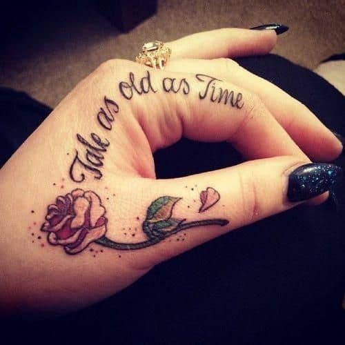 Cute Finger Tattoos Beauty And The Beast Tattoo