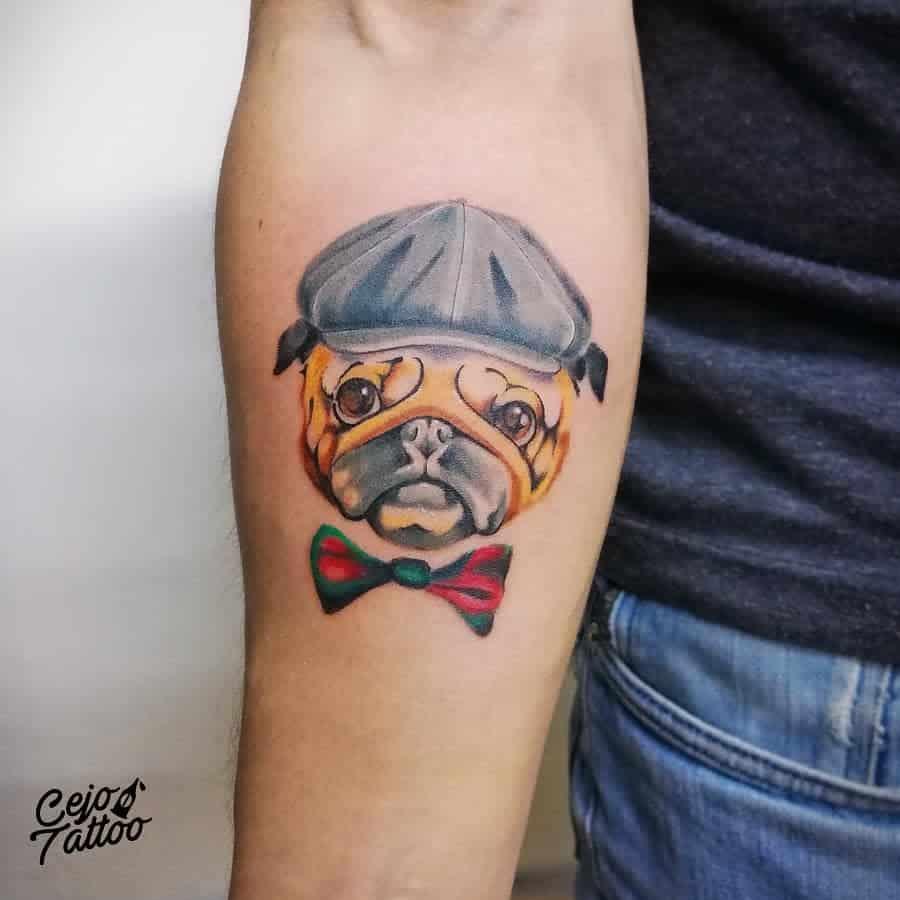 Cute Pug Tattoo Cejo Tattoo