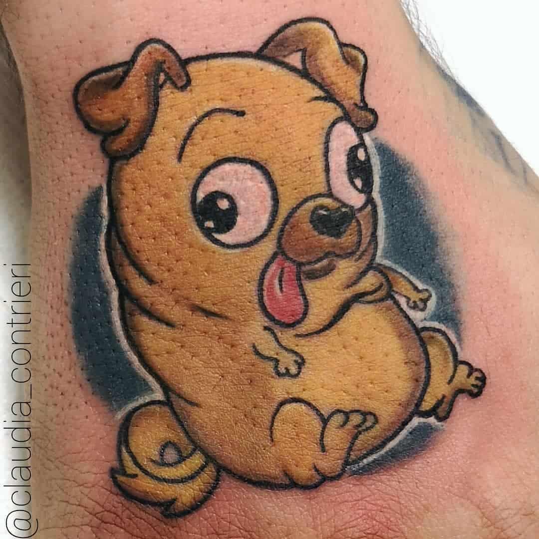 Cute Pug Tattoo Claudia Contrieri.tattoo