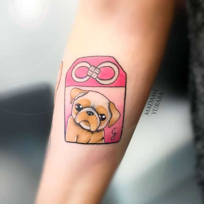 Cute Pug Tattoo Madameyubaba
