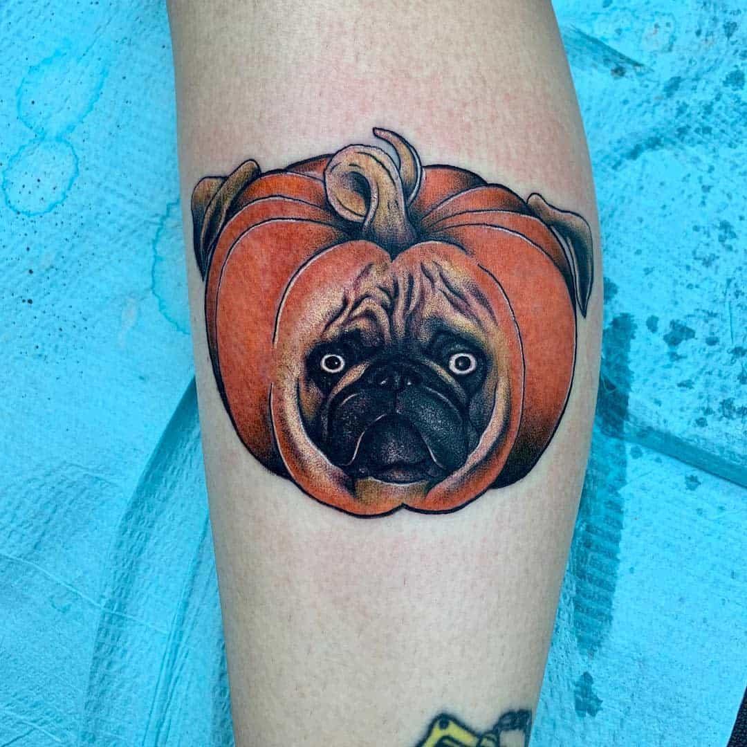 Cute Pug Tattoo Tattoos By Andrew