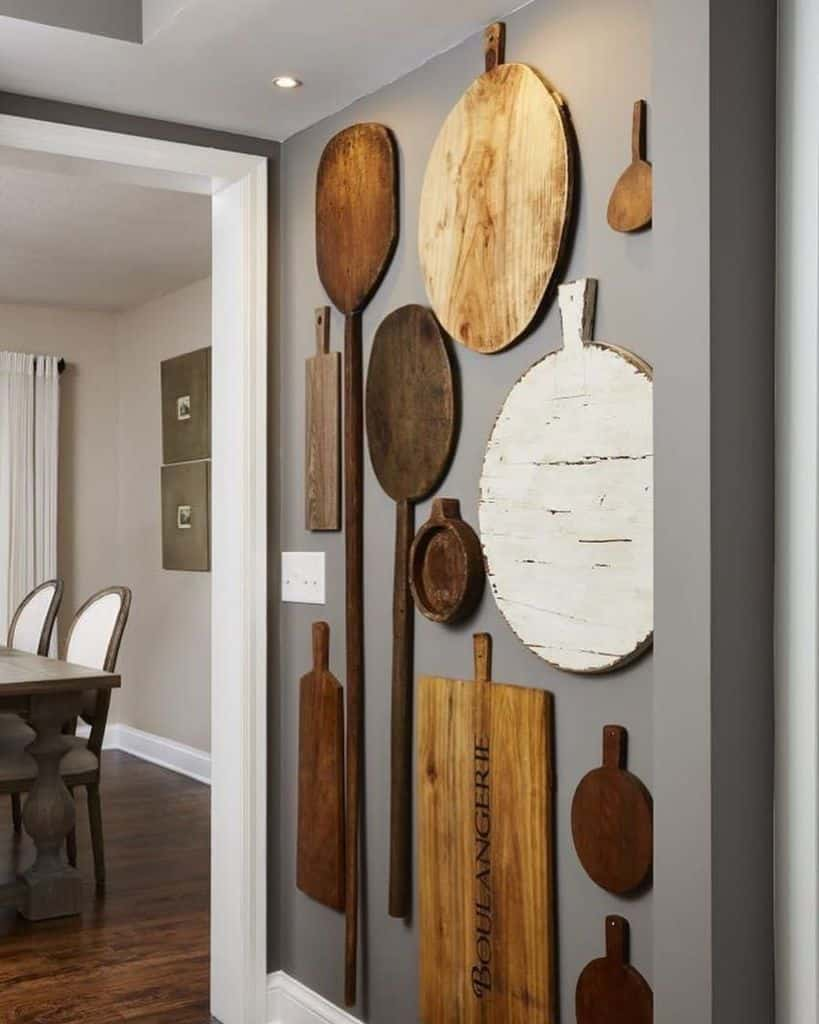 cutting board wall kitchen wall decor ideas puntodereves