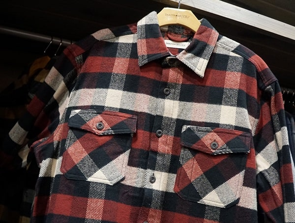 Dakota Grizzly Mens Red Flannel Shirt