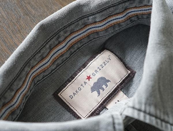 Dakota Grizzly Ryder Shirt For Men Inner Tag