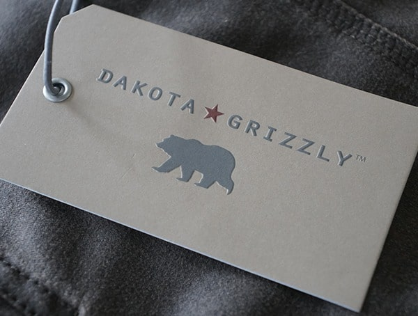 Dakota Grizzly Tag For Tripp Travel Coat