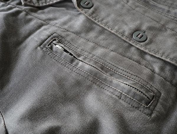 Dakota Grizzly Tripp Mens Travel Coat Closed Chest Compartment Zipper