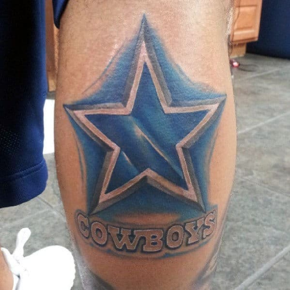 50 dallas cowboys tattoos for men manly nfl ink ideas for Dallas cowboys star temporary tattoos