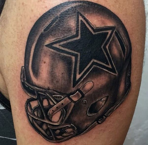 Dallas Cowboys Nfl Mens Football Helmet Arm Tattoo