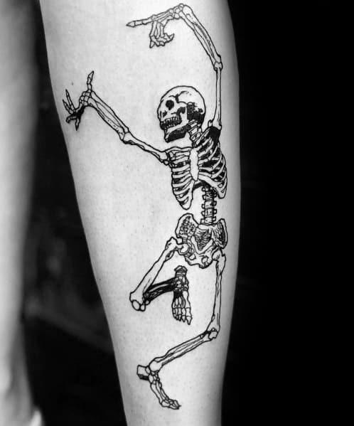 Dancing Skeleton Guys Tattoo Designs