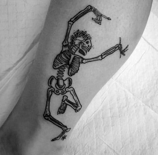 Dancing Skeleton Mens Tattoos