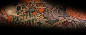 50 Dancing Skeleton Tattoo Ideas For Men – Moving Bone Designs