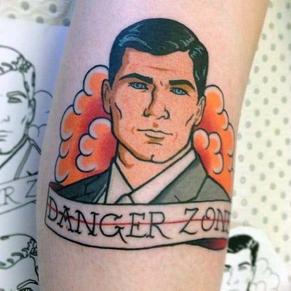 Danger Zone Guys Archer Tattoo Design Ideas
