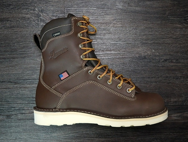 Mens Danner Quarry Usa Brown Alloy Toe Wedge Boots Review