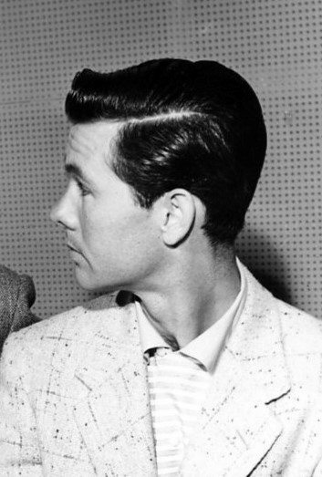 1950s Hairstyles ponytails and pigtails Dapper 1950s Mens Hairstyles Parted At The Side