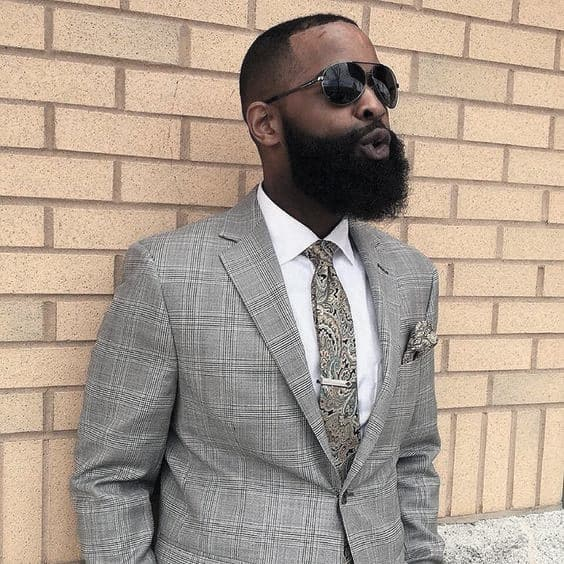 Dapper Black Mens Beard Style Inspiration