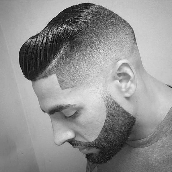 Dapper Fade Haircut With Comb Over For Guys