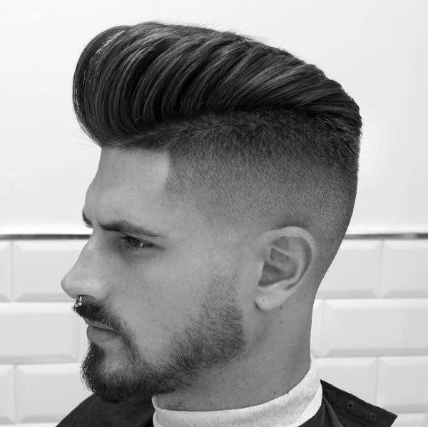 Dapper Fade Pompadour Mens Hairstyles